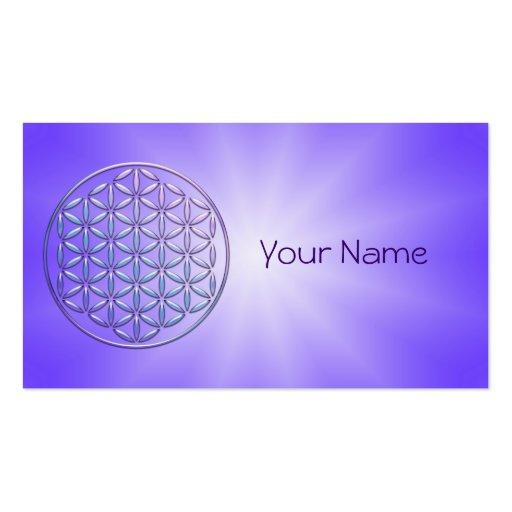 Flower of Life / Blume des Lebens - stamp violet Business Card Template
