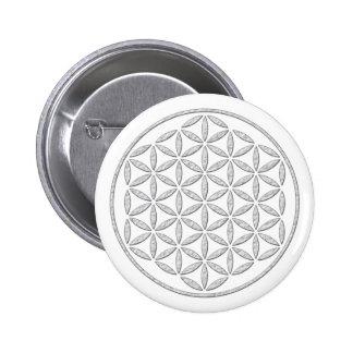 Flower Of Life / Blume des Lebens - stamp white Pin