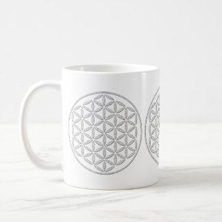 Flower Of Life / Blume des Lebens - stamp white Basic White Mug