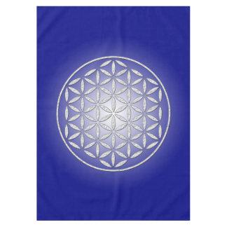 Flower Of Life / Blume des Lebens - stamp white Tablecloth