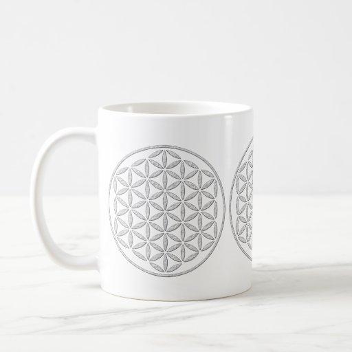 Flower Of Life / Blume des Lebens - stamp white Coffee Mugs