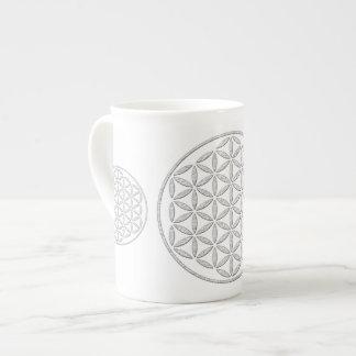 Flower Of Life / Blume des Lebens - stamp white Bone China Mug