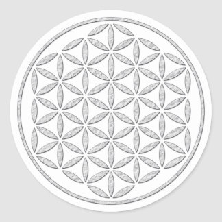 Flower Of Life Blume des Lebens - stamp white Stickers