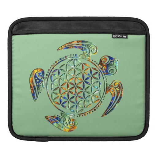 Flower of Life / Blume des Lebens - turtle colored Sleeves For iPads