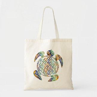 Flower of Life / Blume des Lebens - turtle colored Tote Bag