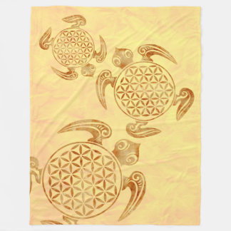 Flower Of Life / Blume des Lebens - turtle stone Fleece Blanket
