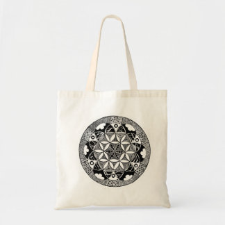 Flower of Life budget tote Budget Tote Bag