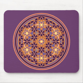 Flower Of Life - Button Style 02 Mousepads
