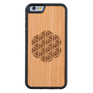 Flower of Life Carved Carved Cherry iPhone 6 Bumper Case