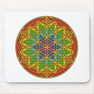 Flower of Life Chakra1 Mouse Pad