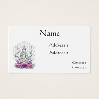 Flower of life chakra goddess appointment card