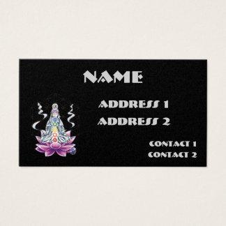 Flower of life chakra goddess business card