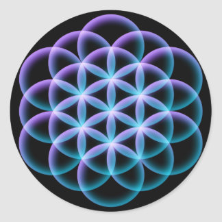Flower of Life Classic Round Sticker