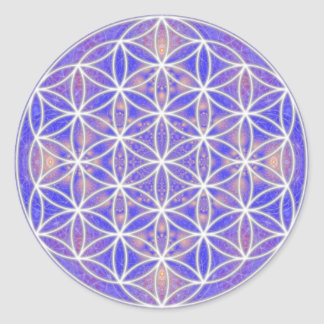Flower of Life (Color 3) Round Sticker