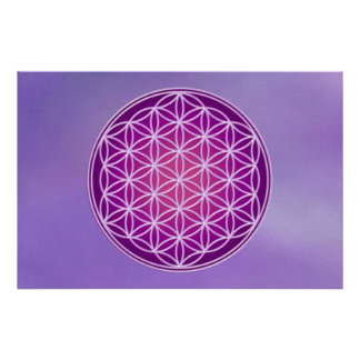 Flower of Life - Crown Chakra Poster