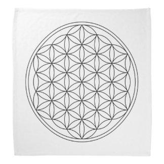 Flower Of Life Crystal Grid Cloth (V-Black) Bandana