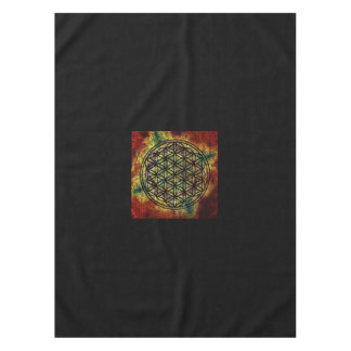"Flower of Life Crystal Grid Tablecloth, 52""x70"" Tablecloth"