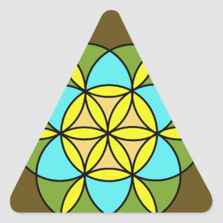 Flower of Life Earth2 Triangle Sticker