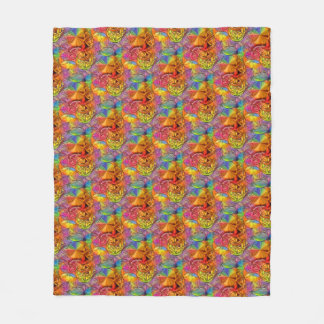Flower of Life Fleece Blanket