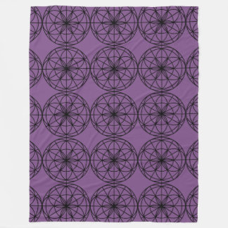 "Flower of Life Fleece Blanket 60""x80"""