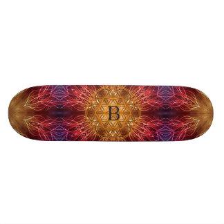 Flower of Life / Fractal Personalized Spiritual Skateboard Deck