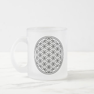 Flower of Life Frosted Glass Mug