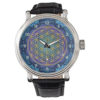 Flower Of Life - gold - fractal 1 Watch