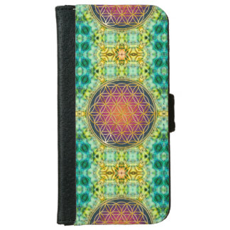 Flower Of Life - gold - fractal 2 iPhone 6 Wallet Case