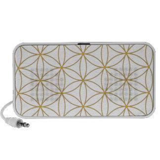 Flower of Life Gold Line Mp3 Speaker