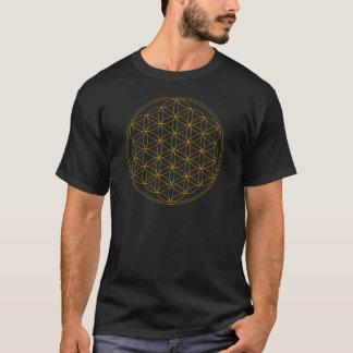 Flower of Life Gold Line T-Shirt