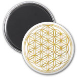 FLOWER OF LIFE - gold Magnets
