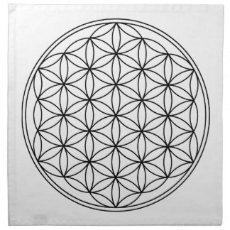Flower of Life Grid Cloth Printed Napkins