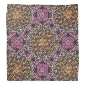 Flower Of Life - knitting seamless pattern V Bandana