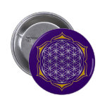 Flower Of Life - Lotus silver gold Pins