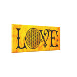 Flower Of Life - LOVE lettering tattoo black Canvas Prints