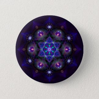 Flower Of Life Mandala 6 Cm Round Badge