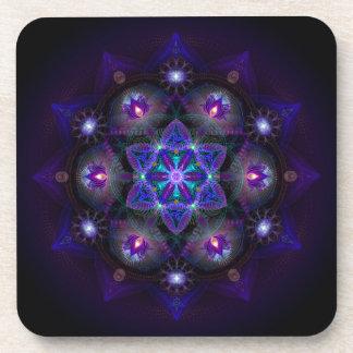 Flower Of Life Mandala Coaster