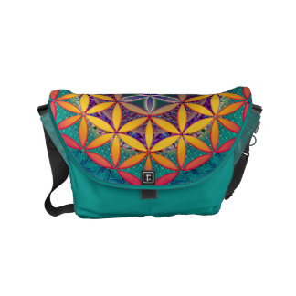 Flower of Life Mandala Courier Bags