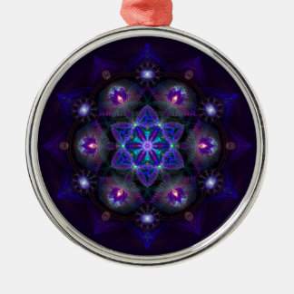 Flower Of Life Mandala Silver-Colored Round Decoration