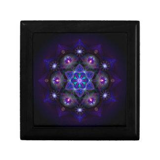 Flower Of Life Mandala Small Square Gift Box
