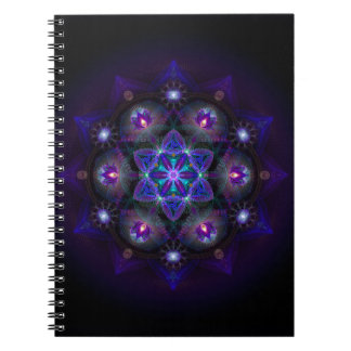 Flower Of Life Mandala Spiral Note Book