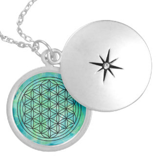 Flower of life Monoprint Necklace