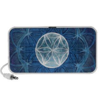 Flower of Life Moon Mandala Travelling Speaker