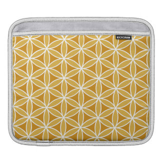 Flower of Life Oranges & White iPad Sleeve