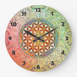 Flower of Life - Ornament I Wallclock