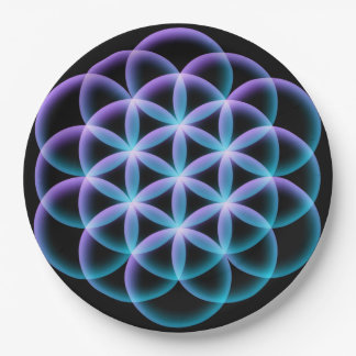 Flower of Life Paper Plate