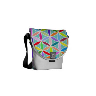 Flower of Life Pattern – Multicoloured Messenger Bag