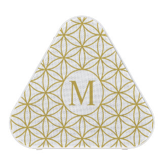 Flower of Life Ptn (Personalised) – Gold on White