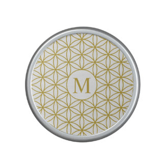 Flower of Life Ptn (Personalised) – Gold on White Speaker