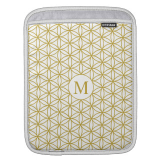 Flower of Life Ptn (Personalised) – Gold on White Sleeve For iPads